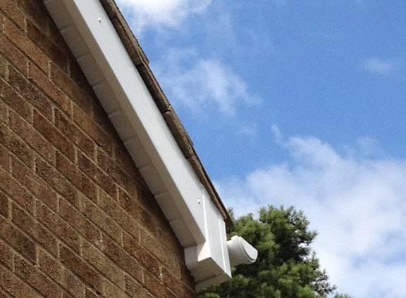 Gable end box end in PVC