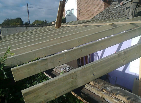 Fitting new roof trusses