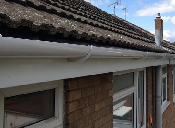 Finished with new guttering, fascias and soffits